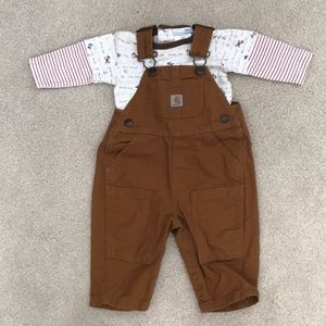 Carhartt Overall with Onesie 0-3 Months